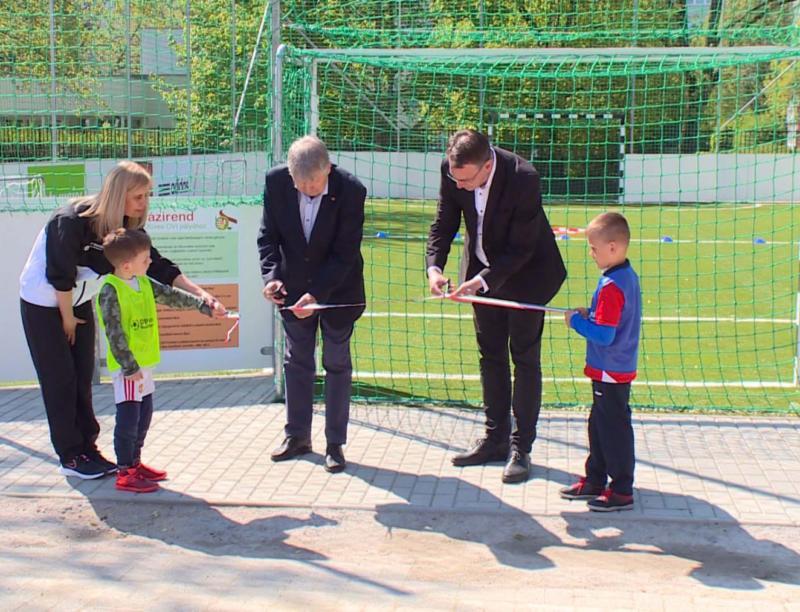 Új sporthelyszínnel bővült a Tavasz utcai tagóvoda